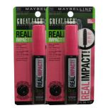 2 x Maybelline Great Lash Real Impact Mascara 250# Blackest Black