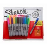 24 SHARPIE Coloured Permanent Marker Pen