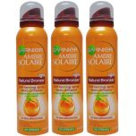 3 x Garnier Ambre Solaire Bronzer Self TANNING Spray Light 150 ml