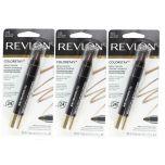 3 X Revlon Colorstay Brow Crayon 315 Dark Brown