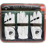 3x Callaway Golf Gloves Premium Cabretta Leather Left Hand Glove