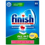 55 Pack Finish All In One Dishwasher Tablet
