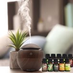 Milano Decor USB Aromatherapy Diffuser with 10 Pack of Aroma Oils