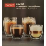 BODUM Pavina Double Wall Thermo Glasses Coffee Cups 4 x 350ml 4 x 250ml set of 8