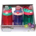 Contigo Kids Autospout Water Bottles 3 Pack-Girls