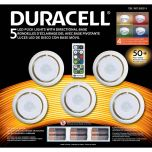 Duracell Led Puck Light 5 Pack With Directional Base