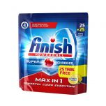 Finish Max in 1 Dishwashing Tabs Lemon Sparkle 50 Tab
