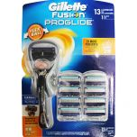Gillette Fusion PROGLIDE Flex Ball 1 Razor +13 Cartridges