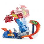 Hot Wheels Dragon Blast Play Set With 18 Cars