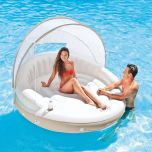Intex Inflatable Canopy Island Float Lounge Sun Shade