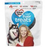 Love Em Beef Liver Treat 250 gm & Gift