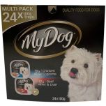 My Dog Multi Pack 24 x 100g Chicken Supreme and Beef Liver