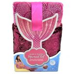 Plush And Playful Kids Mermaid Tail Fleece Throw Reversible Sequin Fin Pink