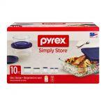 Pyrex 10 Piece Clear Glass Storage Set
