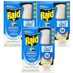 3 X Raid Automatic Multi-Insect Indoor Insect Control System Refill 185g