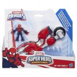 Heroes Marvel Super Hero Adventures Web-Wheelin Bike­ with Ultimate Spider-Man
