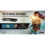 Panasonic DMR-UBT1GL-K UHD 4K B-ray DVD Player+2TB Smart Recorder + Wonderwoman BD
