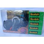 Scotch Magic Tape Kitty Dispenser and 5 Extra Tape Roll