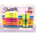 Sharpie Highlighter Smear Guard Markers 24 Pack