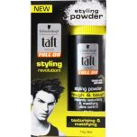 3 x Schwarzkopf Taft Hair Styling Powder Rough & Tough 10g
