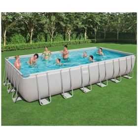 Bestway Power Steel Rectangular Pool Set with Cartridge Filter 7.32 x 3.66 x 1.32 m