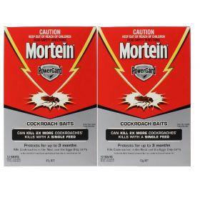 2 x Mortein Powergard Cockroach Baits 12 pack