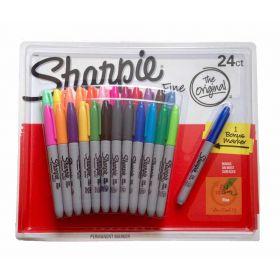 24 SHARPIE Coloured Permanent Marker Pen