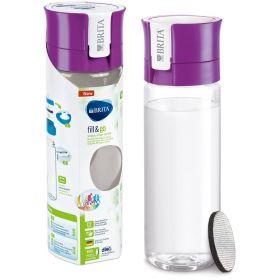 2x Brita Fill and Go Water Filter 600ml Bottle Bonus 5pc MicroDisc Refill