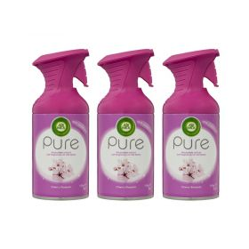 3 x Airwick Pure Air Freshener Spray Cherry Blossom 159g