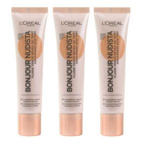 3 X Loreal Paris Bonjour Nudista Skin Tint Medium Dark BB Cream