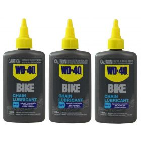 3 X WD-40 BIKE Wet Chain Lubricant 118ml