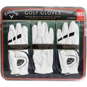 3x Callaway Golf Gloves Premium Cabretta Leather Left Hand Glove