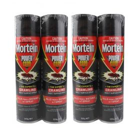 4 x Mortein PowerGard Crawling Insect Surface Spray 320g