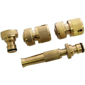 4pcs Brass Hose Pipe Connectors