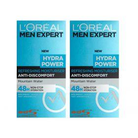 2 X Loreal Men Expert Hydra Power Refreshing Moisturiser 50 ml