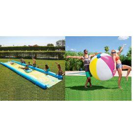 WHAM-O Super Slip 'N Slide Water Slide 790 cm with Bestway 152cm Giant Beach Ball Combo Pack
