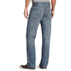 Mens Levis 505 Regular Fit Jeans Stonewash Blue-36