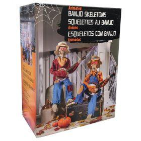 Halloween Animated Dueling Banjo Skeletons
