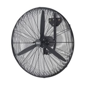 Arlec 75cm Black Industrial Wall Fan