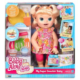 Baby Alive My Super Snackin Sara Blonde Girl