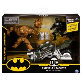 Batcycle Batman vs Clayface DC Comics