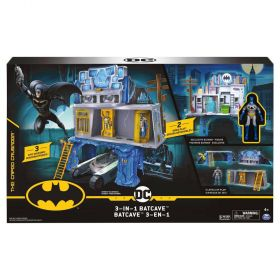 "BATMAN 3-in-1 Batcave Playset with Exclusive 4"" Batman Action Figure"
