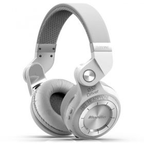 Bluedio T2 Bluetooth Stereo Headphones - White