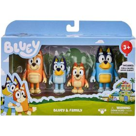 Bluey Family 4 Pack Figurines