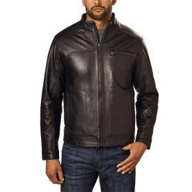 Boston Harbour Men's Leather Jacket Black-S