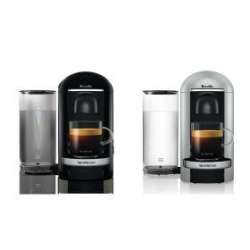 Breville Nespresso Vertuo Plus Coffee Machine Including 12 Capsules-Silver