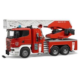 Bruder 1/16 Scania R-Series Fire Engine with Slewing Ladder and Water Pump