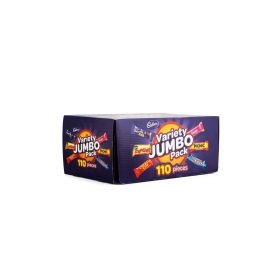 Cadbury Variety Jumbo Pack 110 Pieces 1.68kg Box