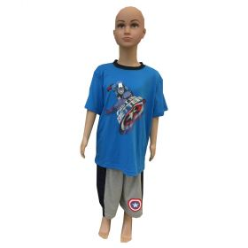 Captain America Licensed Boys Summer PJ Set-2