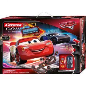 Disney Pixar Cars 3  Neon Lights Slot Car Playset